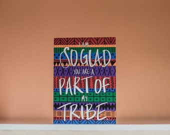 Part Of My Tribe - Greeting Card - Blank Inside - Friend Card - Best Friend Card - Girlfriends Card