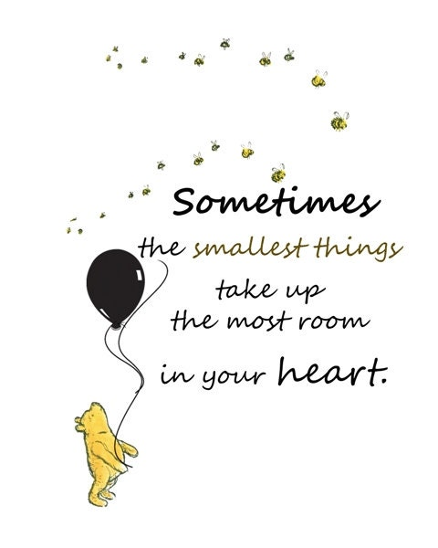 Winnie The Pooh Quotes Sometimes The Smallest Things: Winnie The Pooh Quotes Prints Instant Download