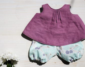 Linen play dress for dolls / 13 inches *organic*