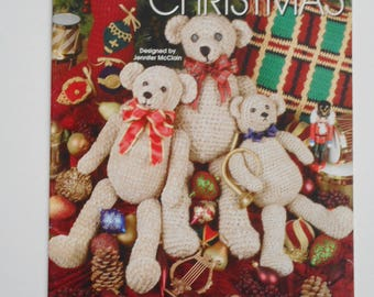 Teddy Bear Crochet Pattern, A Beary Merry Christmas, Annie's Attic