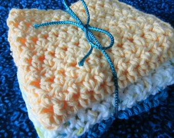 Hand Crocheted Dishcloths / Washcloths / Kitchen/ Nursery/ Spa