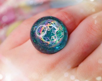 Kawaii Fairy Kei Magical Holographic ring