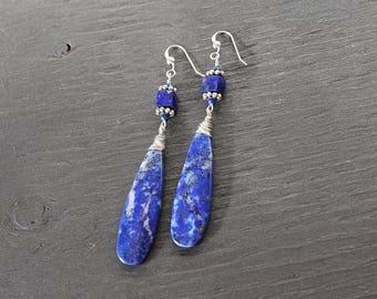 Unique lapis lazuli earrings