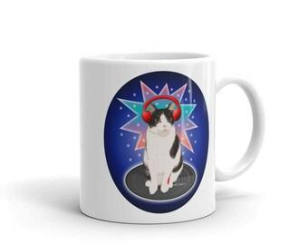 Patches the DJ Cat Mug