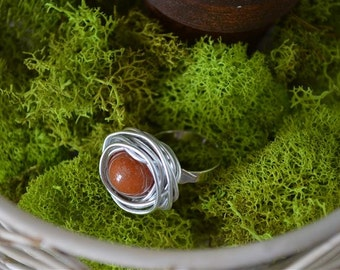 Nest Ring / Burnt Orange / Handmade / How many babies are in your nest / babies / Mother gift / Baby Shower gift /  Mother to be