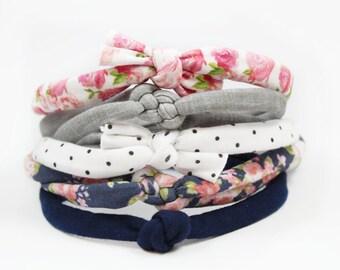 Baby Headbands, Infant Toddler Headband, Polka Dot Headband, Headband, Baby Girl Headband, Bows, Flower Headband, Baby Shower Gift, Top Knot