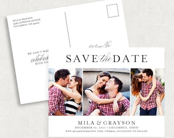 Black and White Save the Dates, Photo Save the Date Postcards, Postcard Save the Dates, Printable Save the Dates, Printed Save the Dates