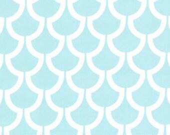 Billow in Aqua Fabric, Bekko, Home Decor Fabric, Trenna Travis for Michael Miller Fabrics, One Yard, 1 Yard