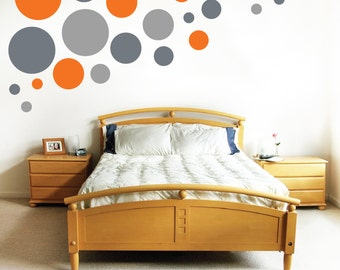 Circles wall decals- set of multile sizes of polka dot decals
