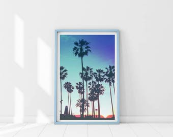 California wall art, Palm tree print, Palm tree photograph, California poster, Minimalist Palm Print,Tropical landscape,Palm tree wall decor