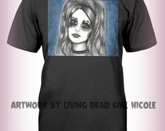 "Portrait T-Shirt : ""It's Too Late For Me"" - Sarah Brightman Blind Mag Repo The Genetic Opera"
