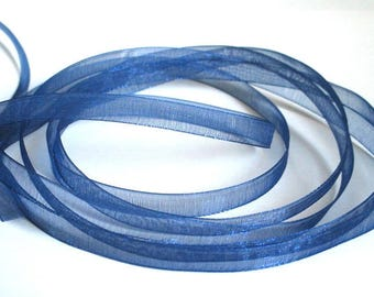 15 m 6mm Royal Blue organza Ribbon