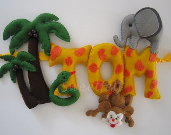 Jungle name sign ( name banner)