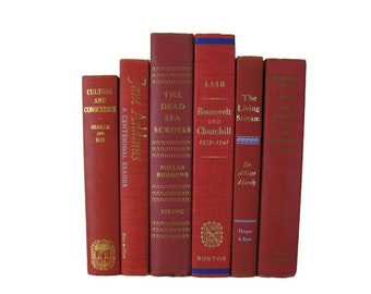 Red Decorative Books