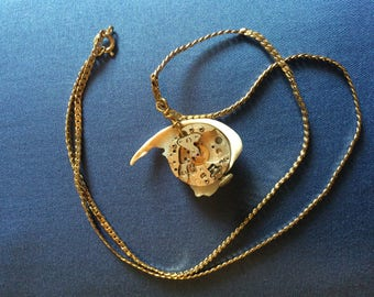 Sea shell & Gear necklace