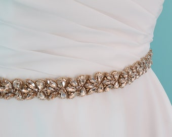 Swarovski sash, wedding sash belt, crystal sash belt, beaded sash belt, belt for wedding dress, wedding dress, bridal sash belt, thin belt