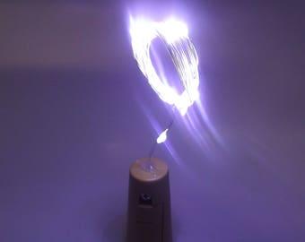 Cork Stopper Fairy lights, LED String lights battery powered, Warm White bottle stopper battery pack, On/Off switch