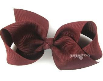 Girls Hair Bow - raisin hair bow - Loopy Bows - large hair bows - big hair bows - bows for girls - toddler clips hairbows - 3.5 inch bows