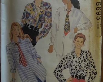 McCalls 6693, sizes Xs to medium, UNCUT sewing pattern, craft supplies, misses, womens, shirt