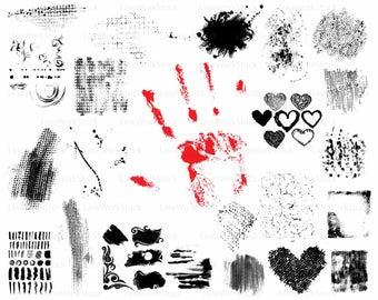 Splats/splats clipart/splats silhouette/grunge/splats files/splats clip art/digital download/designs