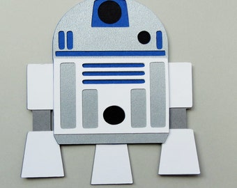 Star Wars Inspired R2-D2 Robot Paper Die Cut Paper Doll Scrapbook Embellishment