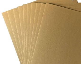Recycled Brown A4 Kraft Card High Quality 350gsm Card Making Crafts Invitations