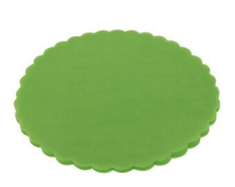 50 round APPLE GREEN color Fairy veils