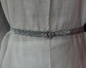 Prom Belt, Rhinestone Clasp Belt, Stretch Belt, Skinny  Belt, Thin, Wedding Bridal Belt, Formal Gown Belt, Spandex Belt