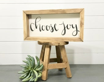 Choose Joy | Small Rustic Sign | Home Decor | Mantle Sign | Gallery Wall
