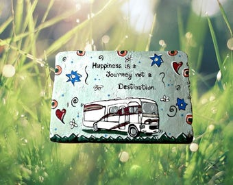 RV stepping stone- RV decor - camping decor - Happinessand welcome decor  - journey - garden steppng stone - gift for her - gift for him