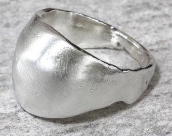 Sterling Silver Sand Cast Boulder Ring