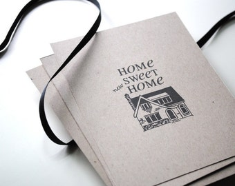 Change of Address Postcards: Home Sweet Home Style - set of 40 - Moving announcement, Recycled postcards, New address, Kraft