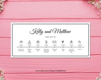 Wedding Timeline Schedule | Wedding Timeline | Wedding Schedule | Order of Events | Wedding Day Itinerary | Wedding Itinerary