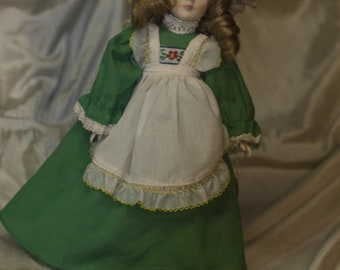 Mother Hubbard Porcelain Doll