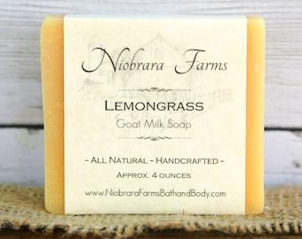Natural Goat Milk Soap - Lemongrass Soap - Natural Soap - Moisturizing Soap - Cold Process Soap - Handcrafted Soap - Soap Favor - Bath Soap