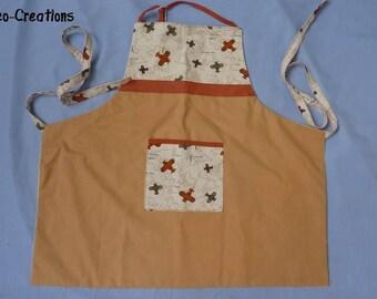 Child apron in cotton, travel theme