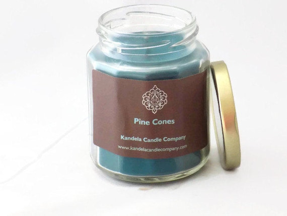 Pine Cones Scented Candle in Twelve Sided Jar