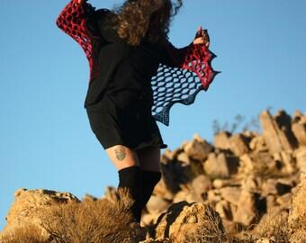 Crochet Shawl - Year of the Dragon Shawl - Dragon Fire