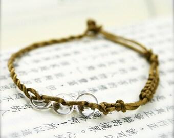 Metal element enhancer bracelet - Clear quartz