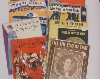 A Time and a Place-- vintage sheet music theme