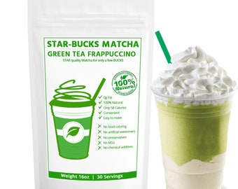STARBUCKS comparable- Japanese Matcha Green Tea Powder perfect for Latte & Frappe, 100% Natural - FREE 1-3 Day USA Shipping