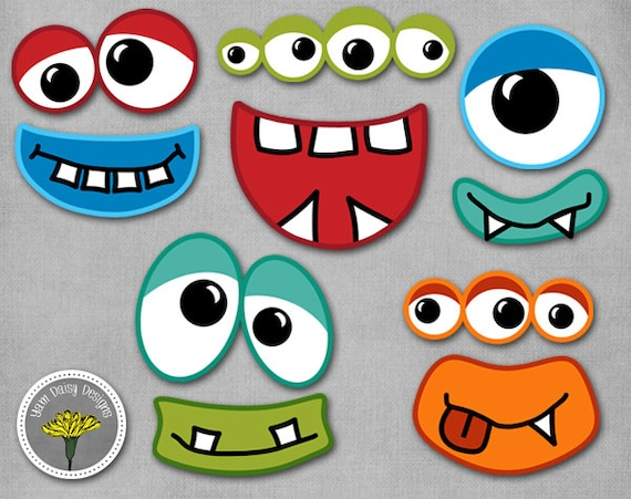 Monster Photo Props Printable Instant Download Monster Eyes