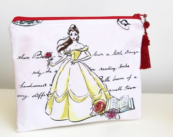 Belle Beauty and the Beast Jewelry Pouch Pencil Case Gift Card Holder