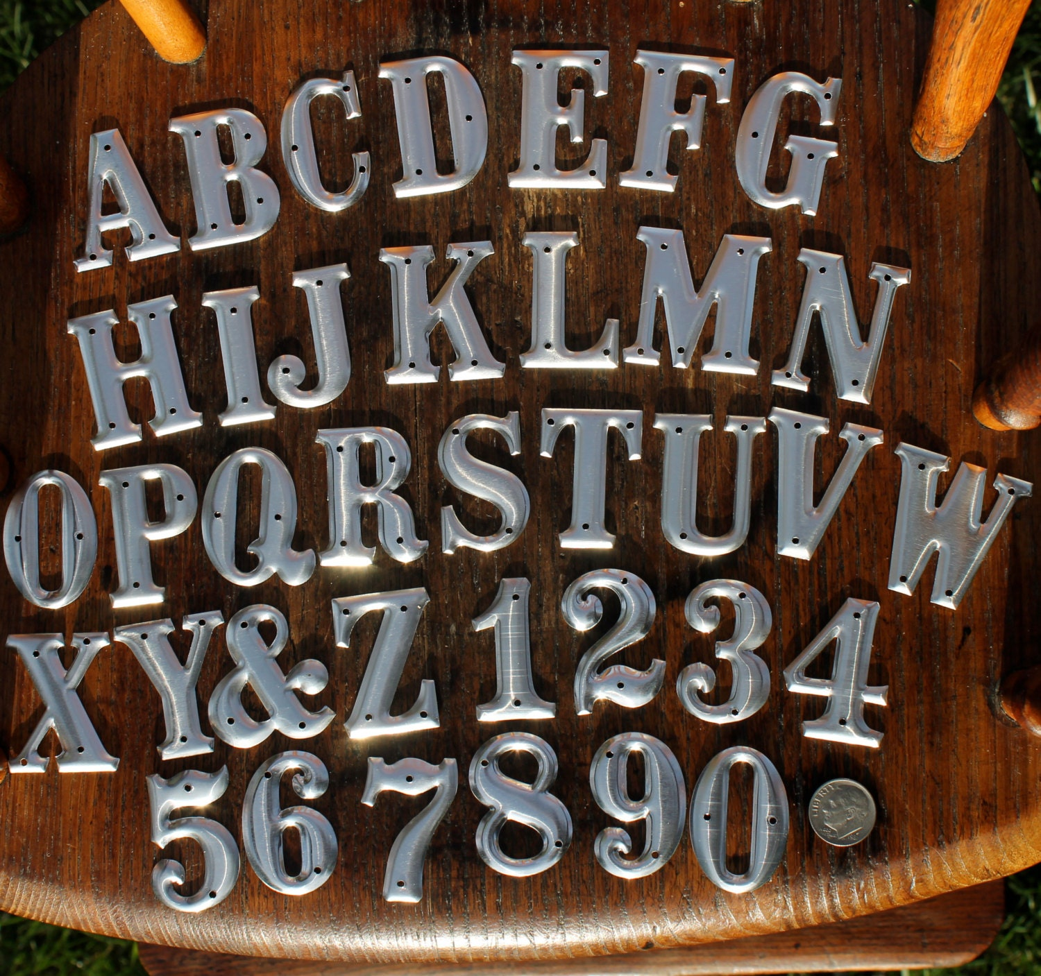 Tin Alphabet Letters 1.5 Inch Metal Letters And Numbers One And One Half Inches