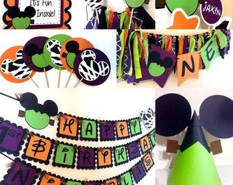 Halloween Mickey Mouse Inspired Birthday Party Packages
