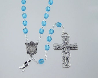 Light Blue Awareness Rosary