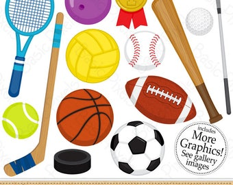 sports balls clipart etsy rh etsy com sports clipart borders sports cliparts free download