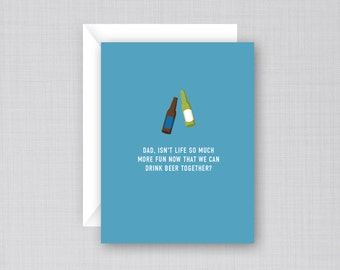 Father's  Day Beer Card | Funny Father's Day Card