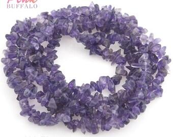 amethyst chips beads size 5-8mm strand | amethyste semi precious gemstone