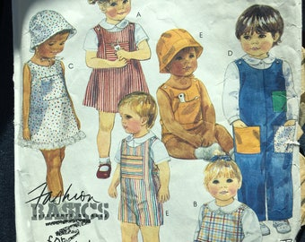McCalls kids sewing pattern, kids sewing pattern McCalls pattern 2952